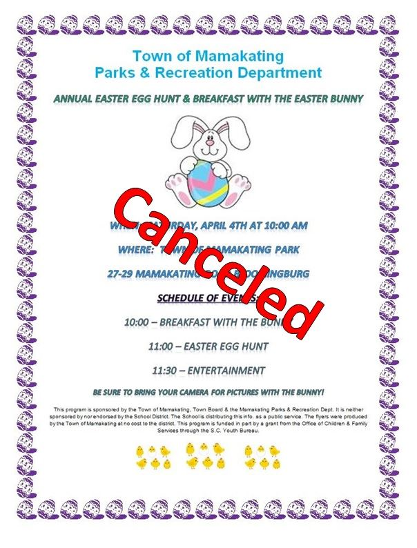 Easter Party Canceled