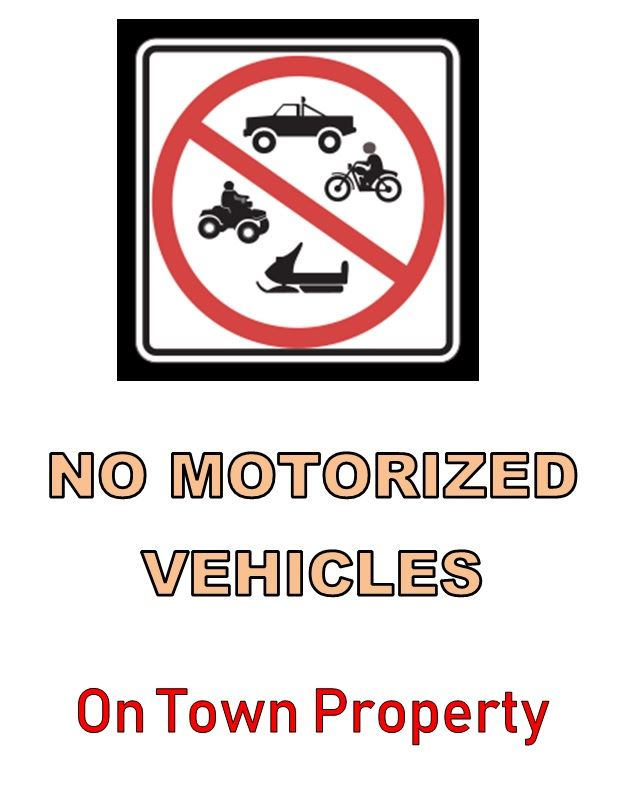NO Motorized Vehicles Vertical