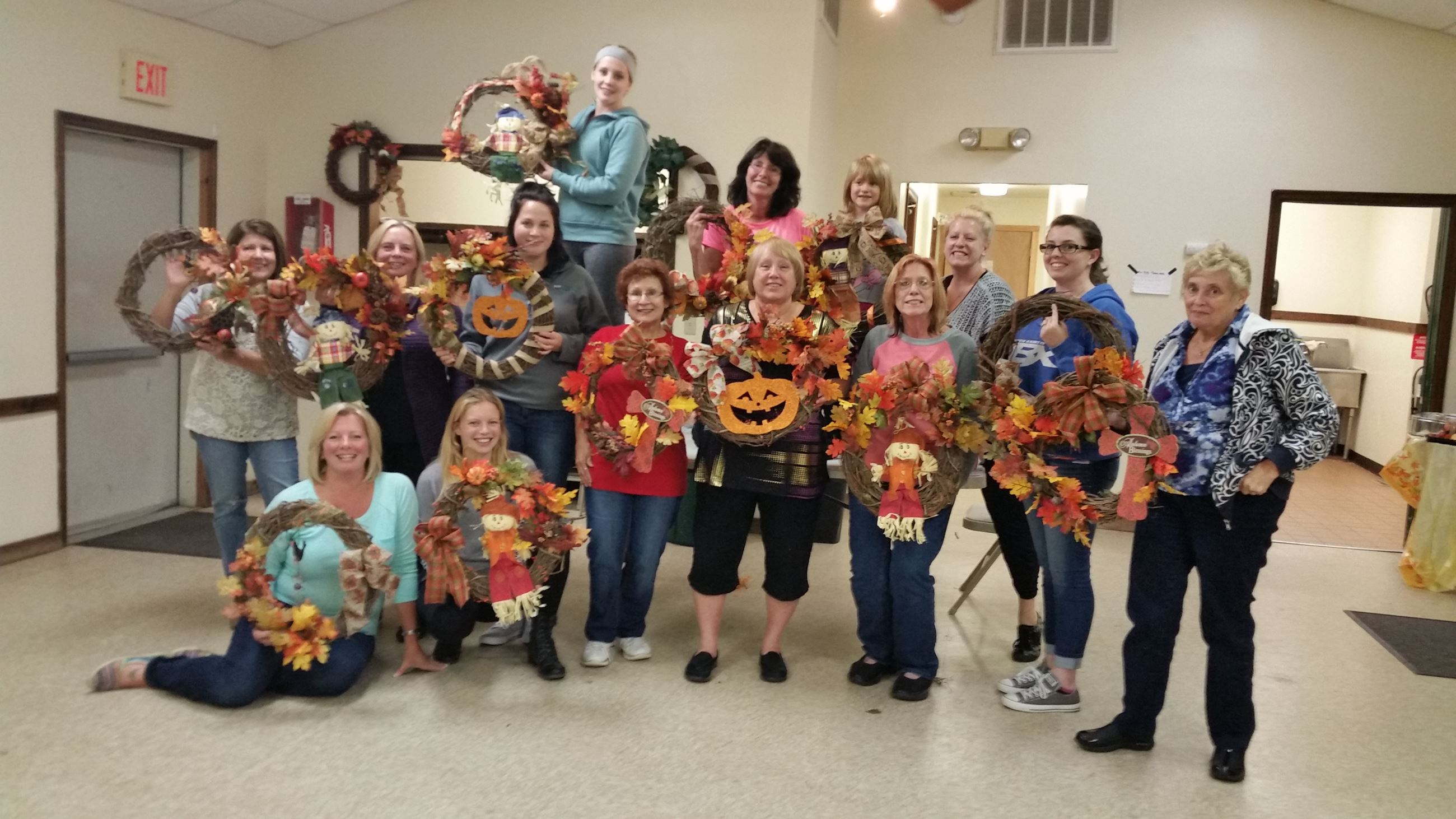 Wreath making oct 1 2015